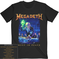 Megadeth Rust In Peace Tracks Shirt