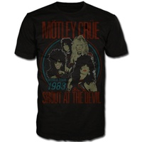 Motley Crue Shout At The Devil Vintage World Tour Shirt