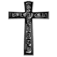 Black Sabbath Cross Metal Pin Badge