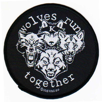 King 810 Wolves Run Together Circular Patch
