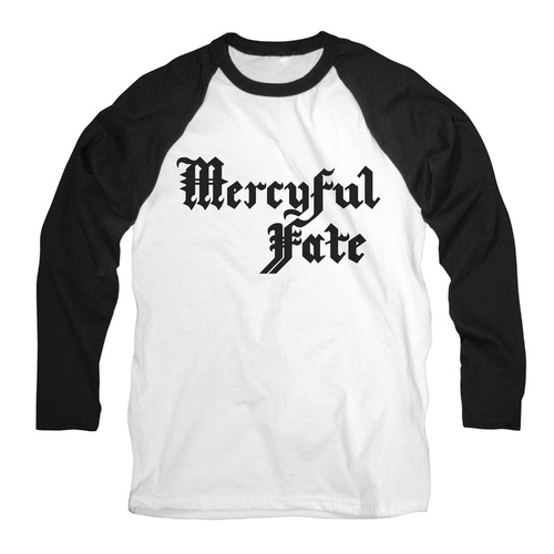 Mercyful Fate Logo Raglan Long Sleeve Shirt [Size: XL]