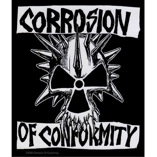 Corrosion Of Conformity Skull Logo Sticker