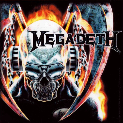 Megadeth Metal Skull Sticker