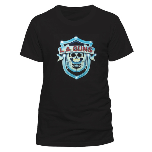 LA Guns Shield Logo Shirt [Size: M]