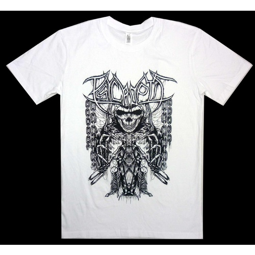 Psycroptic Coffin Skull White Shirt [Size: S]