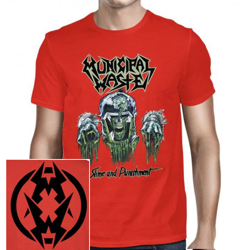 Municipal Waste Slime And Punishment Red Shirt [Size: XXL]