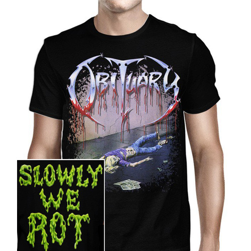 Obituary Slowly We Rot Shirt [Size: M]