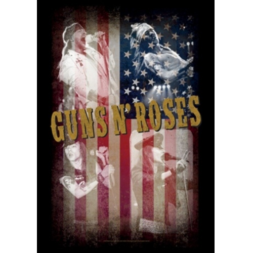Guns N Roses Collage Poster Flag