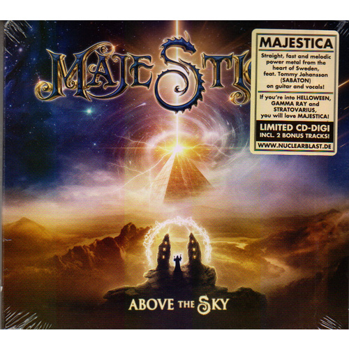 Majestica Above The Sky CD Limited Edition Digi