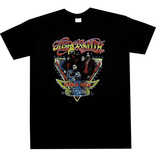 Aerosmith Distressed World Tour Shirt [Size: M]