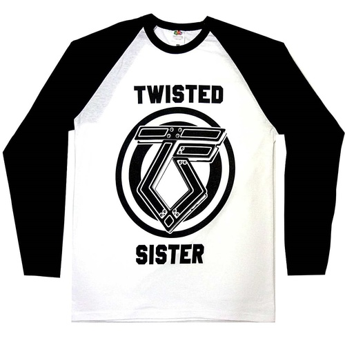 Twisted Sister TS Logo Baseball Shirt [Size: S]