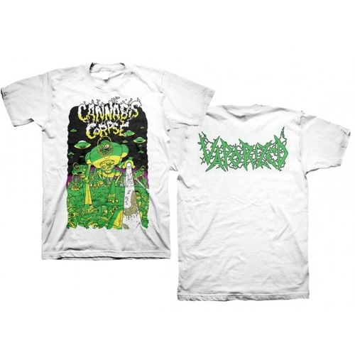 Cannabis Corpse Vaporized White Shirt [Size: S]