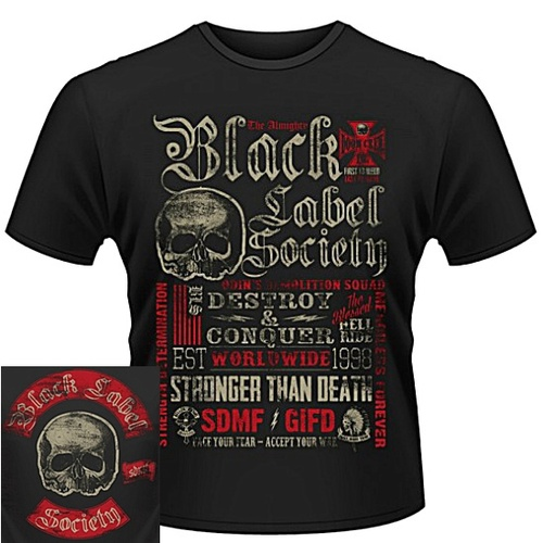Black Label Society Destroy & Conquer Shirt [Size: S]