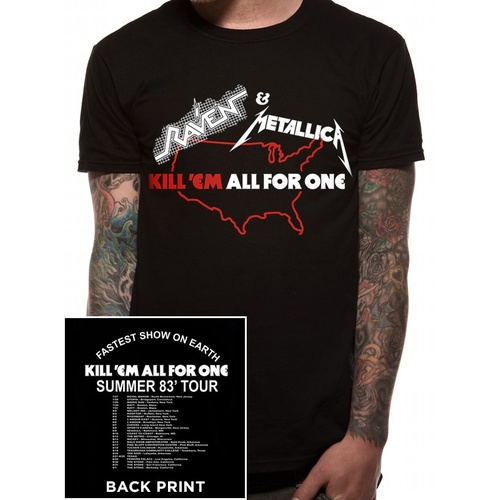 Metallica Raven Kill Em All Tour Shirt [Size: S]