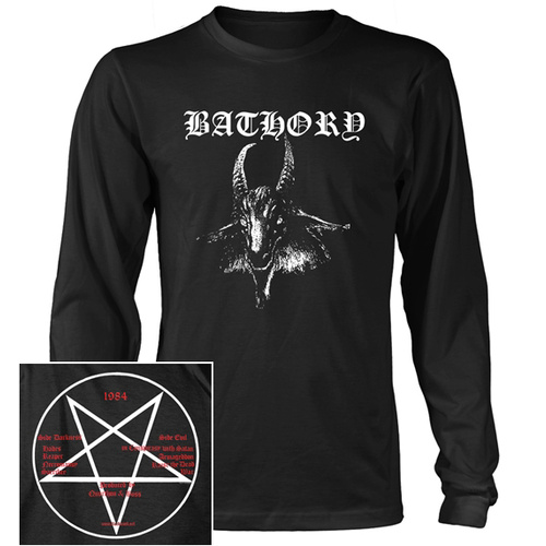 Bathory Goat Head Long Sleeve Shirt [Size: S]