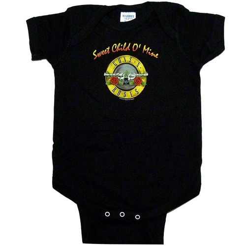 Guns N Roses Sweet Child Baby Onsie [Size: 0-6]