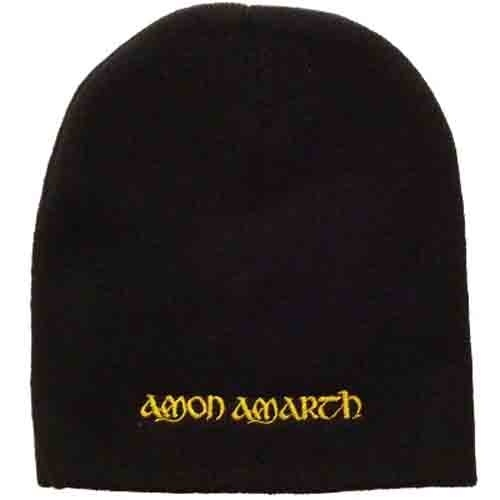 Amon Amarth Gold Logo Embroidered Beanie Hat