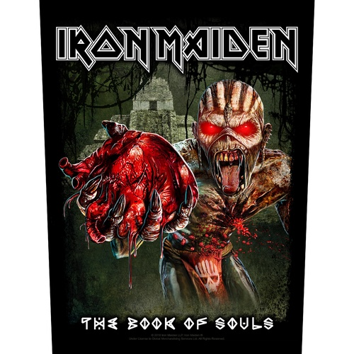 Iron Maiden Book Of Souls Eddie's Heart Back Patch