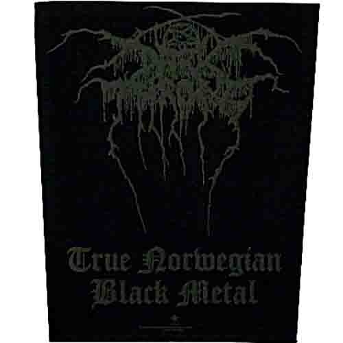 Darkthrone True Norwegian Black Metal Back Patch Dark Throne