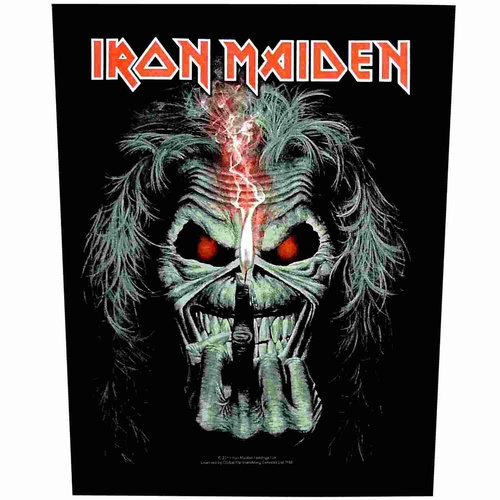 Iron Maiden Eddie Candle Finger Back Patch