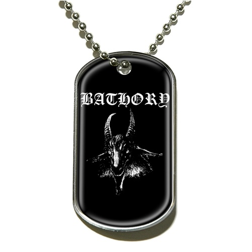 Bathory Goat Dog Tag Necklace