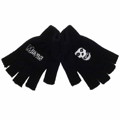 Misfits Logo & Fiend Fingerless Gloves