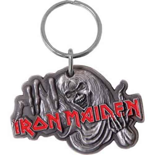 Iron Maiden Number Of The Beast Metal Keychain