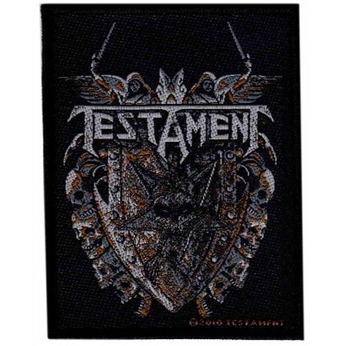 Testament Shield Woven Patch