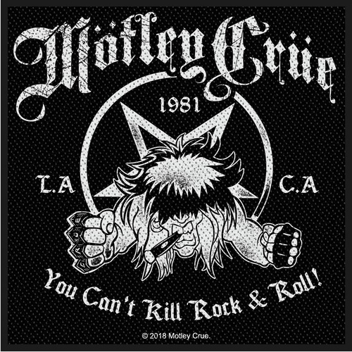 Motley Crue You Cant Kill Rock N Roll Patch