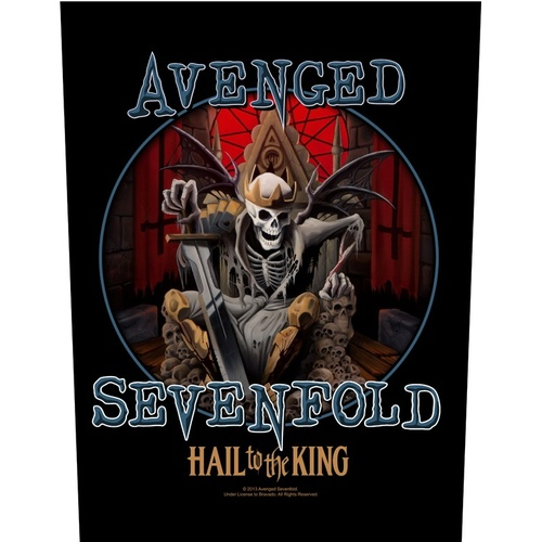 Avenged Sevenfold Hail To The King Back Patch