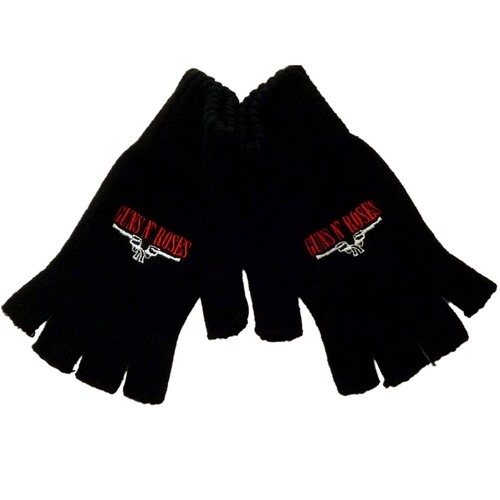 Guns N Roses Logo Fingerless Gloves